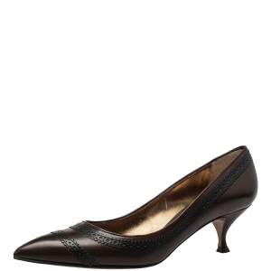 Dolce & Gabbana Brown/Black Leather Pumps Size 41