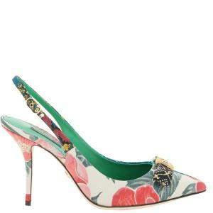 Dolce & Gabbana Multicolor Floral Slingback Pumps Size IT 40
