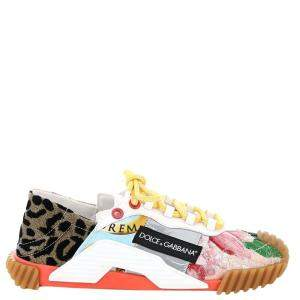 Dolce & Gabbana Multicolor Patchwork Fabric NS1 Sneaker Size IT 39