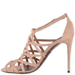 Dolce & Gabbana Beige Suede Sandals Size EU 37