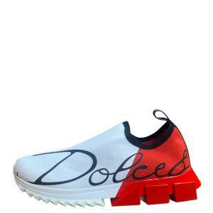 Dolce & Gabbana Red Sorrento Sneakers Size EU 41