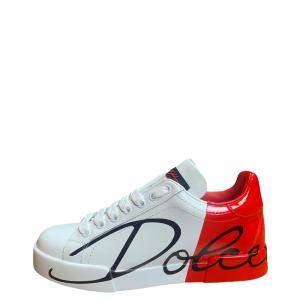 Dolce & Gabbana Red Portofino Sneakers Size EU 35.5
