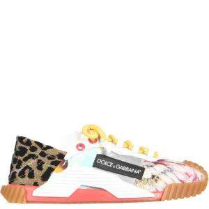 Dolce & Gabbana Multicolor Patchwork  NS1 Slip-On Sneakers Size IT 37