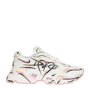 Dolce & Gabbana Multicolor Hand Painted Daymaster Sneakers Size EU 38