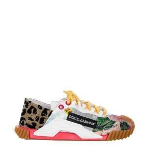Dolce & Gabbana Multicolor Patchwork NS1 Sneakers Size EU 36
