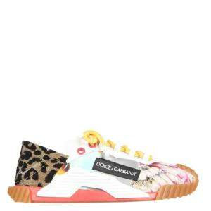 Dolce & Gabbana Multicolour Patchwork Fabric NS1 Slip-On Sneakers Size IT 36