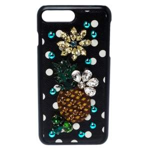 Dolce & Gabbana Multicolor Jewel Embellished Leather iPhone Cover
