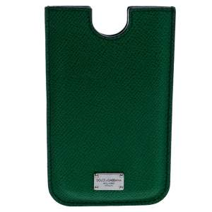 Dolce & Gabbana Green Leather iPhone 4 Case