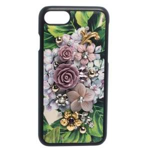 Dolce & Gabbana Multicolor Floral Embellished Leather iPhone 7 Case