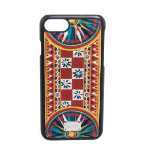 Dolce & Gabbana Multicolor Printed Leather iPhone 7 Case