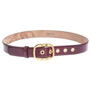 Dolce & Gabbana Burgundy Patent Leather Belt 85CM