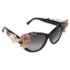Dolce & Gabbana Black Gradient DG 4180 501/87 Floral Sunglasses