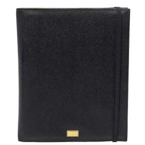 Dolce & Gabbana Black Leather Ipad Case