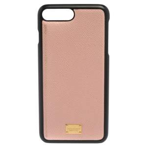 Dolce & Gabbana Pink/Black Leather iPhone 7 Cover