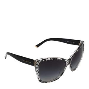 Dolce & Gabbana Black Lace / Grey Gradient DG 4111 Cateye Sunglasses