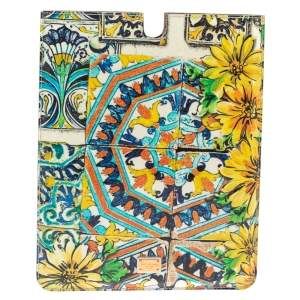 Dolce & Gabbana Multicolor Majolica Print Patent Leather P2 Tablet Case