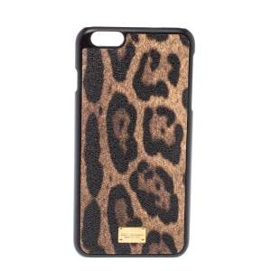 Dolce & Gabbana Leopard Print Leather iPhone 6/6plus Case