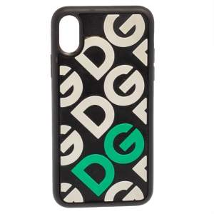 Dolce & Gabbana Black/White Rubber DG Logo iPhone X Case