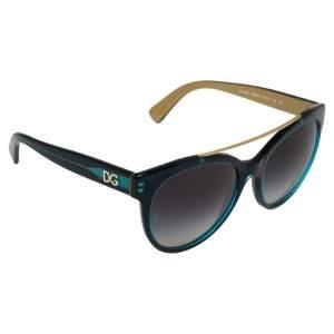 Dolce & Gabbana Blue / Grey Gradient DG4280 Cat Eye Sunglasses