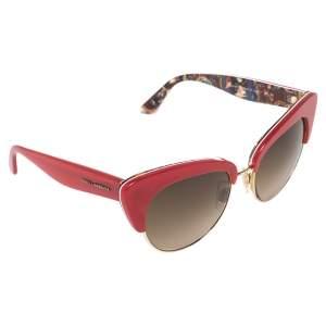 نظارة شمسية دولتشي أند غابانا عين قطة سيسيليان متدرجة دي جي4277 أحمر