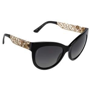 نظارة شمسية دولتشي أند غابانا عين قطة بولورايزد دي جي 4211 أسيتات أسود