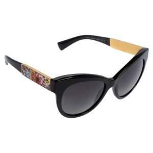 Dolce & Gabbana Black Acetate DG 4215 Polarized Cat Eye Sunglasses