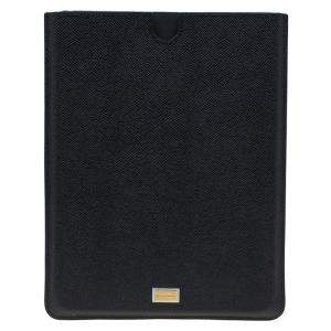Dolce & Gabbana Black Leather IPad 2 Case