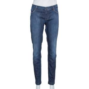 Dolce & Gabbana Indigo Stretch Denim Slim Fit Jeans L
