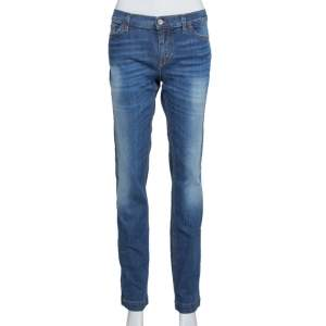 Dolce & Gabbana Indigo Medium Washed Denim Girly Jeans L