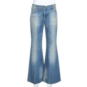 Dolce & Gabbana Blue Medium Washed Denim Flared Jeans L