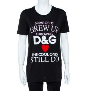 Dolce & Gabbana Black Cotton The Cool Ones T-Shirt S