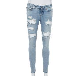 Dolce & Gabbana Blue Denim Distressed Jeans XS