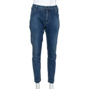 Dolce & Gabbana Navy Blue Denim Slim Fit Kate Jeans L