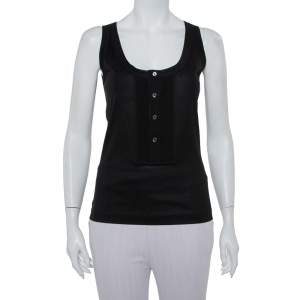 Dolce & Gabbana Black Cotton Tank Top M