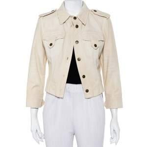 Dolce & Gabbana Vintage Beige Denim Button Front Jacket M