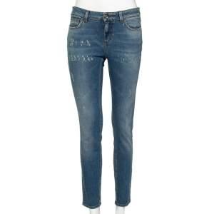Dolce & Gabbana Blue Denim Distressed Pretty Fit Jeans S