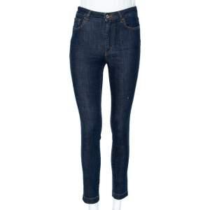 Dolce & Gabbana Navy Blue Denim Queen Applique Detail Audrey Fit Jeans S
