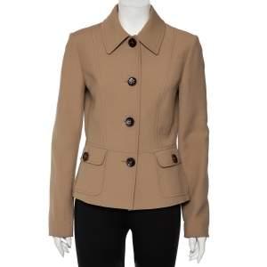 Dolce & Gabbana Beige Wool Button Front Jacket M