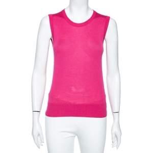 Dolce & Gabbana Pink Cashmere Silk Sleeveless Sweater S