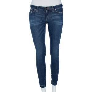 Dolce & Gabbana Faded Blue Denim Pantalone 5 Tasche Skinny Jeans S