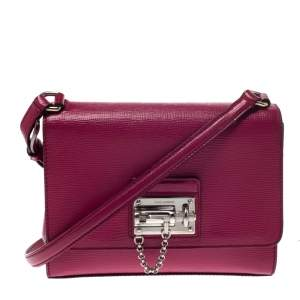 Dolce & Gabbana Hot Pink Leather Monica Shoulder Bag