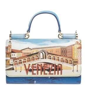 Dolce & Gabbana Multicolor Leather Venezia Sicily Von Smartphone Bag