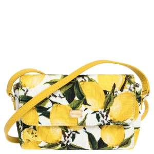 Dolce & Gabbana Multicolor Printed Canvas and Leather Bambino Shoulder Bag