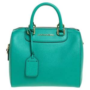 Dolce and Gabbana Green Leather Boston Bag
