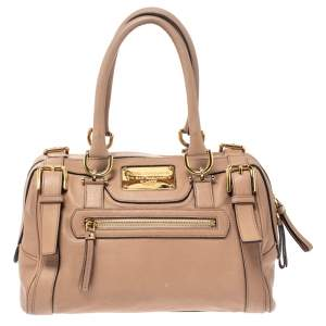 Dolce & Gabbana Beige Leather Boston Bag