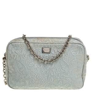 Dolce & Gabbana Pale Blue Lace Crossbody Bag