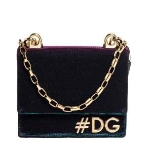 Dolce & Gabbana Holographic Fabric DG Girls Flap Shoulder Bag