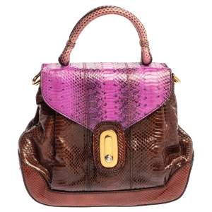 Dolce & Gabbana Multicolor Python Miss Lantana Top Handle Bag