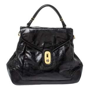 Dolce & Gabbana Black Leather Miss Lantana Top Handle Bag