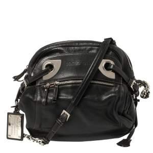 Dolce & Gabbana Black Leather Miss Hug Shoulder Bag